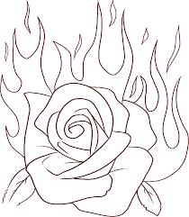 roses coloring pages chuckbutt com