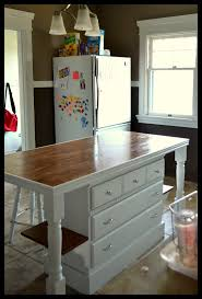 kitchen diy kitchen island from dresser decor color ideas