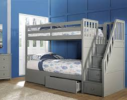 loft bed with drawer stairs stackable bunk bed with storage