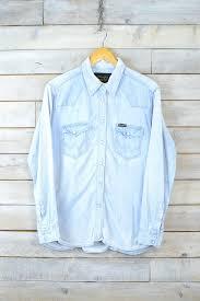 wrangler light blue jeans wrangler light blue denim shirt brag vintage clothing