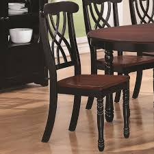 Dining Chair Cherry Addison Black And Cherry Wood Dining Chair Min Qty 2 Steal A