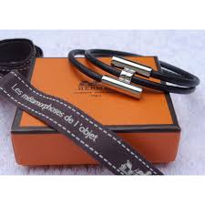 hermes bracelet leather images Herm s bracelet tournis black leather ref a66722 instant luxe jpg