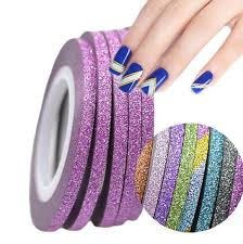 Nail Decorations 3mm Shiny Glitter Nail Striping Tape Line For Nails Decorations