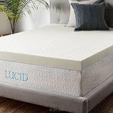 amazon com lucid 4 inch ventilated memory foam mattress topper
