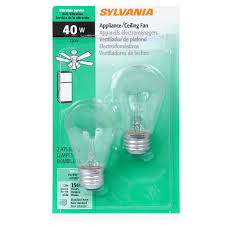 oven light bulb lowes shop sylvania 2 pack 40 watt dimmable soft white a15 incandescent
