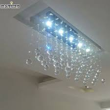 Wrought Iron Bathroom Lighting Contemporary Led Luster Crystal Chandelier Interior Curtain Wave