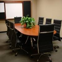 Small Boardroom Table Modern White Ergonomic Executive Office Chairs With Dark Wood