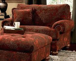 ottoman overstuffed chairs and ottomans oversized leather chair