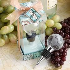 theme wedding favors glass globe design wine bottle stopper favors world wedding