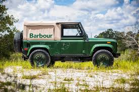 green land rover barbour u0027s custom land rover is a thing of beauty airows