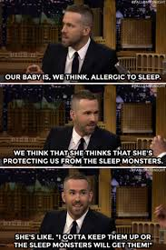 Baby Suit Meme - ryan reynolds has a theory that his baby the tonight show