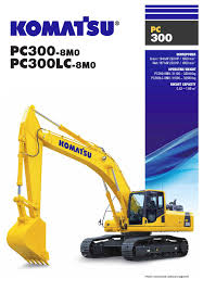 komatsu catalogue specification sheeets hydraulic excavator pc300