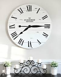 kirklands clock shiplap black u0026 white decor farmhouse style big