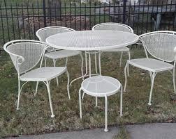vintage wrought iron patio furniture etsy