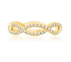 open wedding band modern open twist diamond studded wedding band for