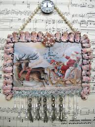 vintage shabby chic christmas decorations images