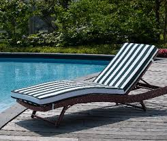 Wicker Chaise Lounge Rebecca Wicker Patio Lounger With Cushion Beachfront Decor