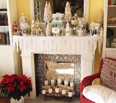 be really charming the white christmas fireplace decorations size