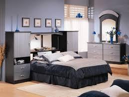 bedroom with mirrored headboard bedroom set