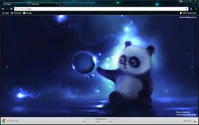 chrome themes cute cute panda chrome theme chromeposta