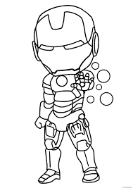 iron man mini superheros coloring pages printable