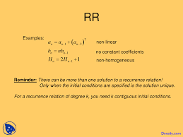 solving recurrence relations discrete mathematics and its