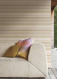 york wallcoverings home design zig zag multicolore wallpaper in silvery grey and cream by missoni