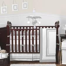 Grey And White Crib Bedding Checks Striped And Plaid Crib Bedding