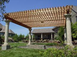 Decorations For Front Of House Roman Large Yard Pergola Ideas For Front Of House 2545