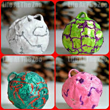 ornament ideas paper mache baubles