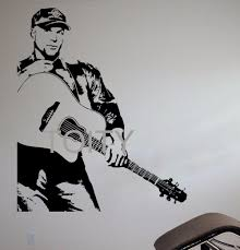 garth brooks wall sticker country pop singer vinyl decal music art garth brooks wall sticker country pop singer vinyl decal music art decor bar studio club restaurant home interior room big mural in wall stickers from home