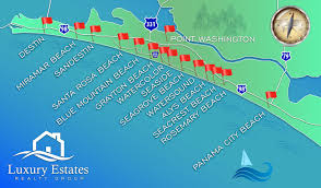 Map Of 30a Florida Luxury Estates Realty Group Luxury Homes From Destin To 30a Florida