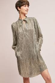 gold dresses for women anthropologie