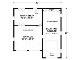 Workshop Garage Plans Rv Garage Plans Rv Garage Plan With Workshop And Apartment