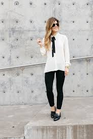 casual for work fall business casual chic black white look for work