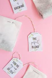 tea bag party favors diy bridal shower tea bags with coffee filters