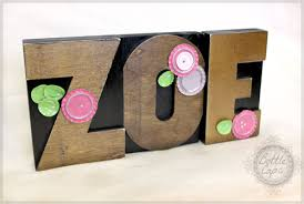 Decorative Letter Blocks For Home Retro Craft Large Wood Letter Press Block Name And Letter Decor Diy