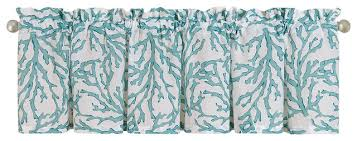 Blue Valance Curtains Cora Blue Unlined Valance Beach Style Valances By Simply