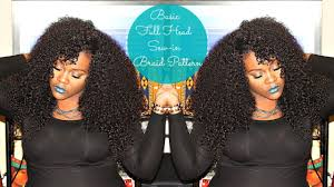 hair weave styles 2013 no edges basic full head sew in braid pattern youtube