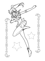 sailor moon coloring page google search makoto kino sailor