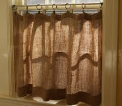 Smocked Burlap Curtains Curtain Burlap Curtains With Plaid Accent For Home Decoration