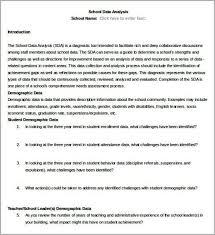data analysis template data analysis template 8 free word pdf