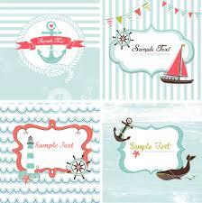 set of 4 nautical cards royalty free stock image storyblocks