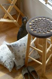 Round Bar Stool Covers Fabric Bar Stool Covers Round Stools Chairs Seat And Ottoman
