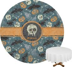 halloween round tablecloth anniversary party invitation email bday