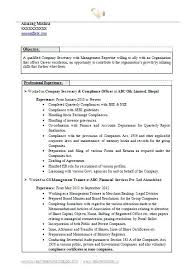 sample of resume for secretary company secretary sample resume for