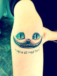 unique cheshire cat tattoo designs ideas for tou