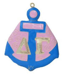 small handpainted delta gamma ornament by fmhcollectibles