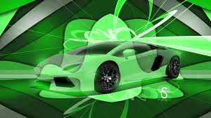 Lamborghini Aventador Neon Green - lamborghini aventador 3d super crystal abstract art car 2017 ino