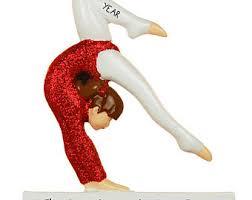gymnast ornament etsy